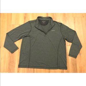 Orvis Men Thermal Shirt Stretch Half Zip Heathered